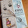 Deux cartes d'anniversaire hivernales