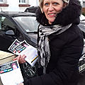 La distribution du <b>questionnaire</b> par Sylvie