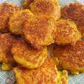 Galettes de carottes au fromage