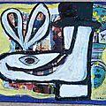 Chaussure coquette Caroline - collage et peinture