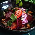 Betteraves et fraises, une salade…