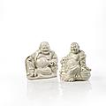 Deux statuettes en porcelaine blanc de chine, chine, dynastie qing, xixe siècle