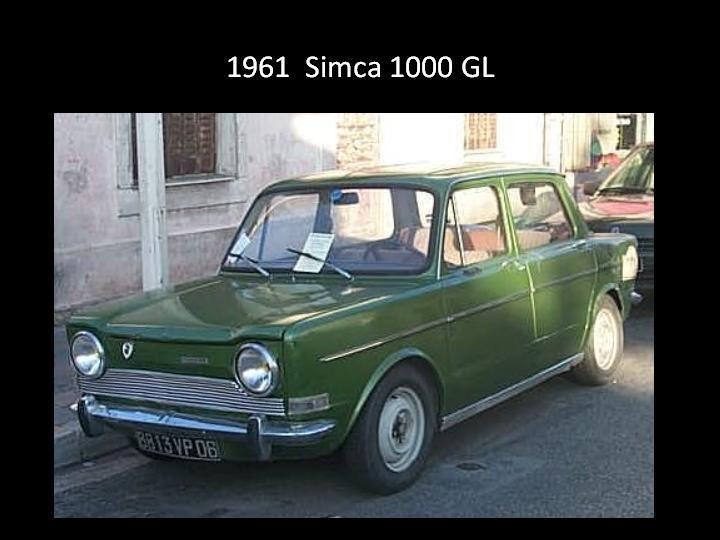 1961 - Simca 100 GL