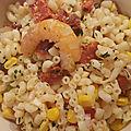 Salade de coquillettes aux crevettes et langoustines