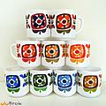 Vaisselle Vintage ... GRANDES TASSES Mobil * Série complète 9 mugs MOBIL