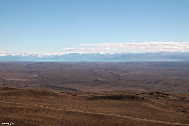 lago argentino depuis la ruta 40