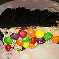 Gravity cake chocolat
