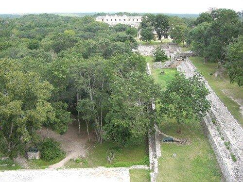 Uxmal - View from top of the Great Pyramid
