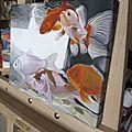 Fish_24x30cm - chassis toile - peint côtés - vernis