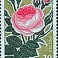Les roses et la philatélie