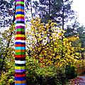 lampadaire multicolore