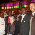 Le staff du CODE avec Odile Biyidi-Tobner