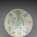 Importante coupe Minaï, Dynastie Seldjoukide, Iran, <b>XIIe</b>-<b>XIIIe</b> siècle