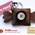 8/ Broche Kivole (marron)