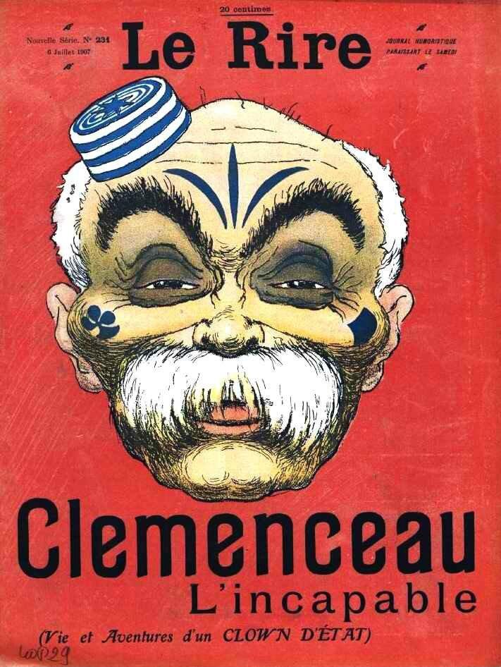 Les caricatures de Clemenceau