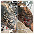 Coloration d'un ancien tattoo noir et blanc - par jérémy