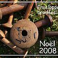 ENVELOPPES BRODEES NOEL 2008