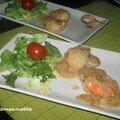 Menu aux fruits de mer : coquilles saint jacques, huîtres, saumon, glace, idée repas fêtes des mamans