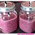 Smoothie fraise banane myrtille