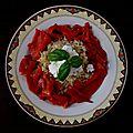 Salade boulghour-poivrons-chèvre frais