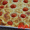 Flan de tomates cerises au beaufort