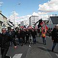 Manifestation à lorient contre la loi el khomry