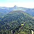 Dôme de Guilhers et Pic d'Arlas depuis le Soulaing...