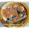 Crêpes salées crème fraîche - saumon - aneth