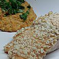 Saumon en croûte de cacahuètes