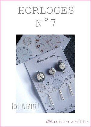Epingles marimerveille horloges N°7