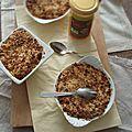 Crumble aux pommes, miel et pâte d'amande