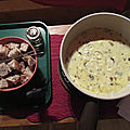 Fondue <b>cèpes</b> et truffe
