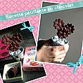 Sucette pétillante au chocolat