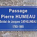 La Poitevinière (49), passage Pierre Humeau