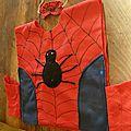 Spiderman, le paon et la toile d'araignée de lulu