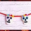 Guirlande de crâne pour Halloween