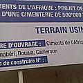 La <b>cimenterie</b> marocaine à Bonabéri entre en production