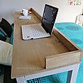 DIY bricolage - une grande table à roulettes pour le lit