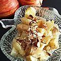 Compotée pommes poires-amandes noisettes
