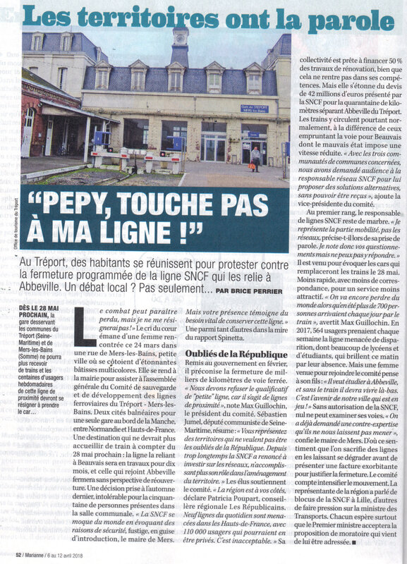 LE TREPORT/MERS LES BAINS: la population se mobilise contre le MEPRIS de la SNCF