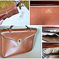 ★Sac <b>Cartable</b> Porte document camel <b>vintage</b>
