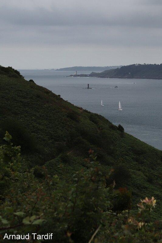 00771 Plomodiern - La Presqu'Ile de Crozon - La Pointe des Espagnols - Vue sur la Rade de Brest et le Phare du Petit Minou blog