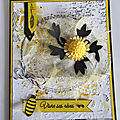 <b>Carte</b> <b>anniversaire</b> mixed média