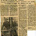 Marius Lambert - Article de journal
