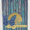 Carte à secouer papillon - Butterfly <b>shaker</b> card
