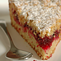 GÂTEAU CRUMBLE VANILLE & <b>CANNEBERGES</b>