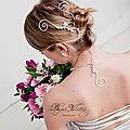 Bijoux cheveux mariage : accessoire de <b>coiffure</b> <b>mariée</b> et bijou de tête Marquise