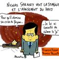 Nicolas sarkozy, interview télé, françois fillon et apaisement stable du flegme tranquille