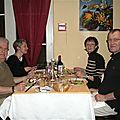 Au resto avec Michèle et Jean-François...
