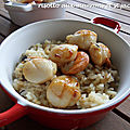 Risotto aux marrons et st jacques